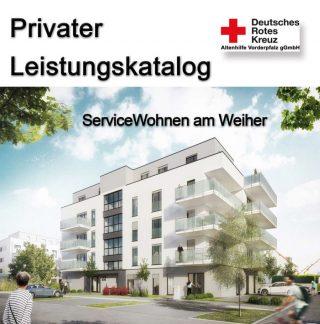 """Leistungskatalog für die Serviceleistungen im Wohnprojekt """"ServiceWohnen am Weiher"""" in Ludwigshafen-Melm"""