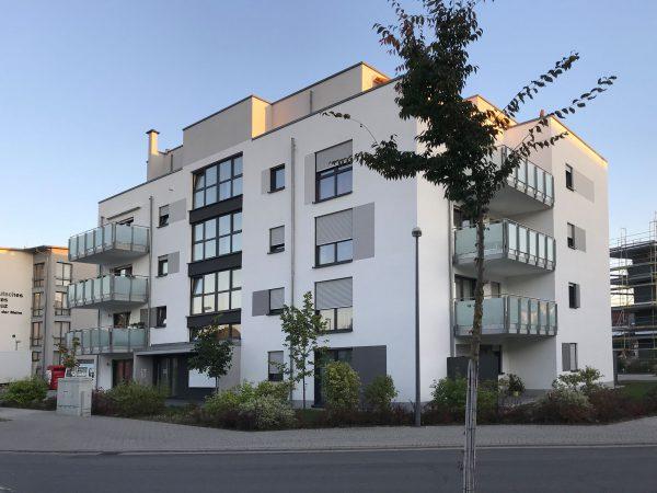 Integriertes Betreutes Wohnen des DRK in Ludwigshafen Melm - Eckansicht des Wohngebäudes