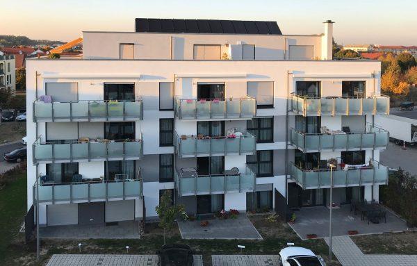 Integriertes Betreutes Wohnen in Ludwigshafen Melm - Rückansicht des barriererfreien Wohngebäudes